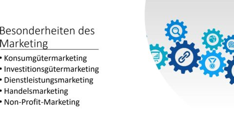 Die Marketingbereiche – Besonderheiten des Marketings