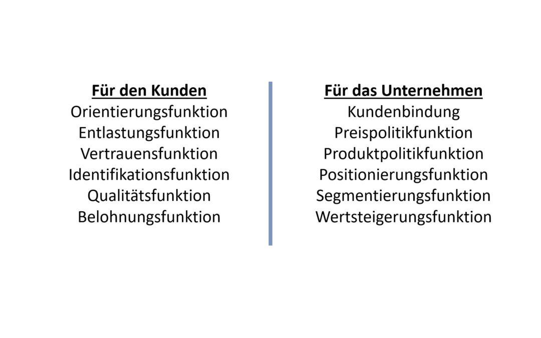 Die Funktionen von Marken  – Markenfunktionen einfach erklärt!