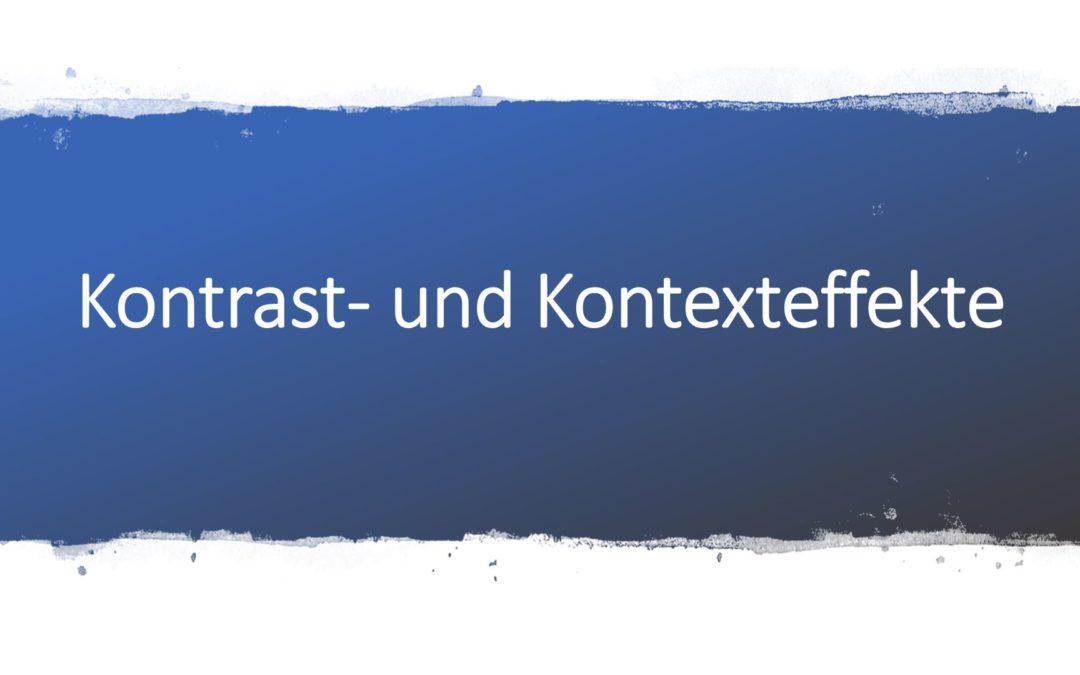 Kontrasteffekte und Kontexteffekte in der Werbung