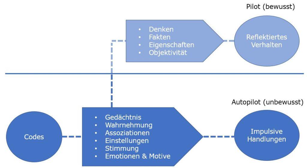 Autopilot (System 1) und Pilot (System 2)
