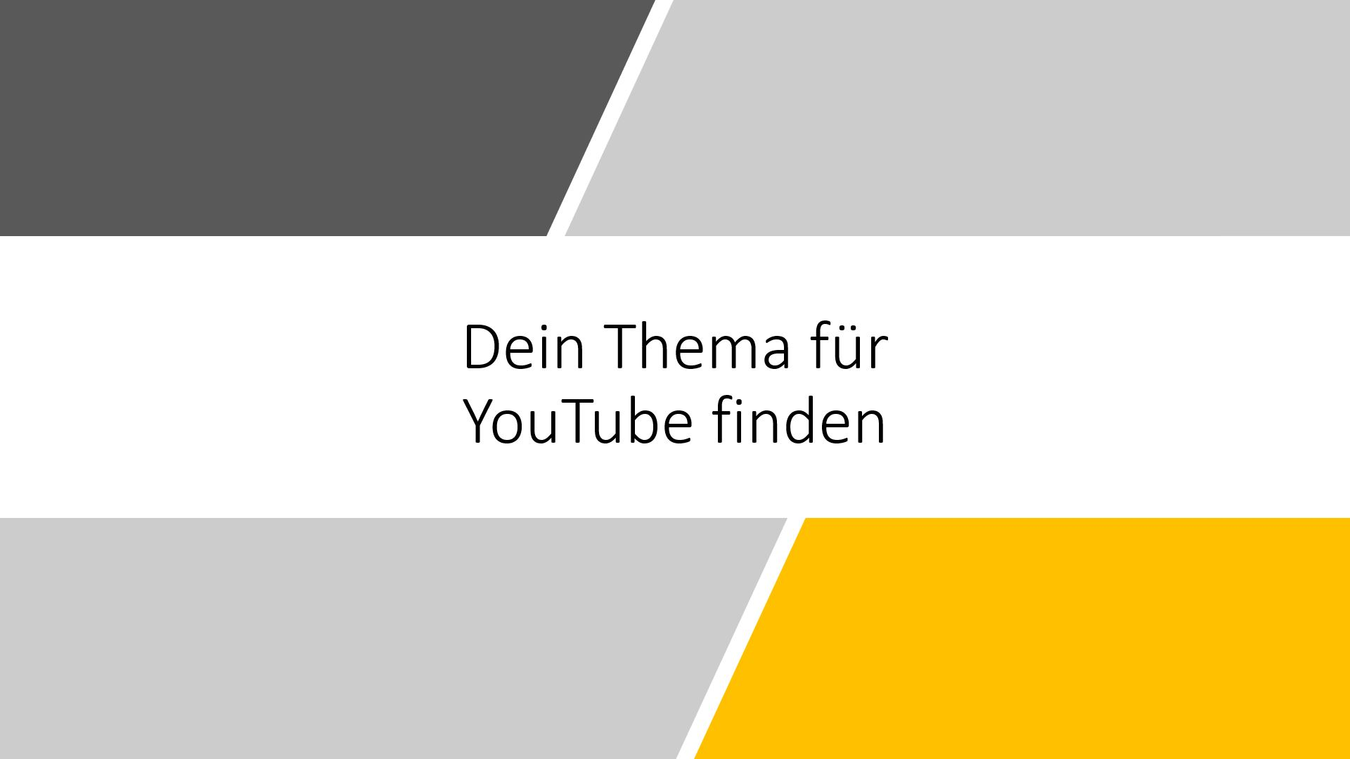 Youtube Kanal Finden