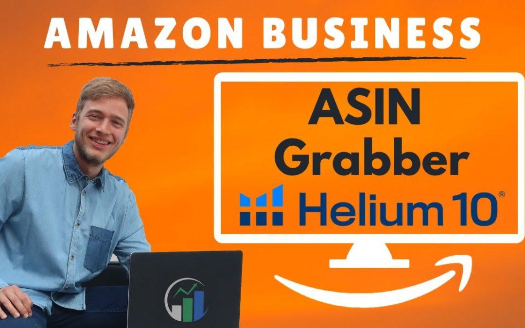 Helium 10 ASIN Grabber mit der Helium 10 Chrome Extension