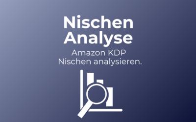 Amazon KDP Nische analysieren.