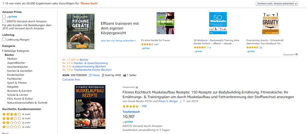 Gesponserte Werbeanzeigen auf Amazon mit Keywordausrichtung.