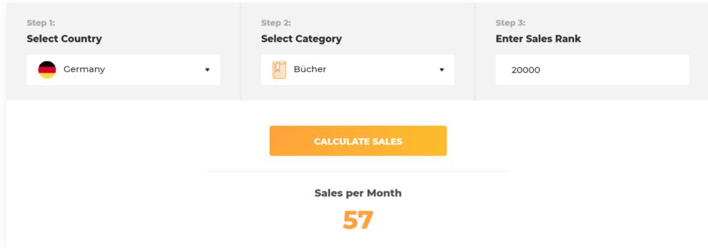 Verkäufe auf Amazon berechnen.
