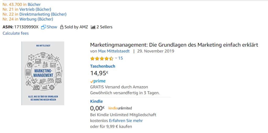 Amazon BSR in den Suchergebnissen anzeigen lassen.