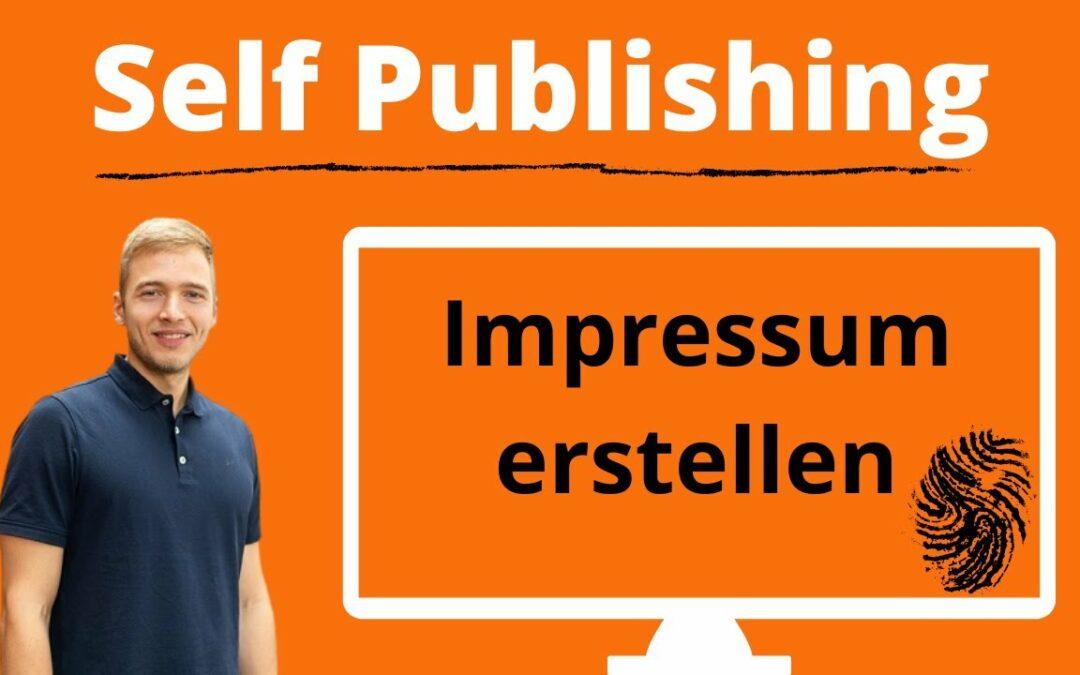 Amazon KDP Impressum erstellen mit Mustervorlage für das Buch-Impressum im Self Publishing