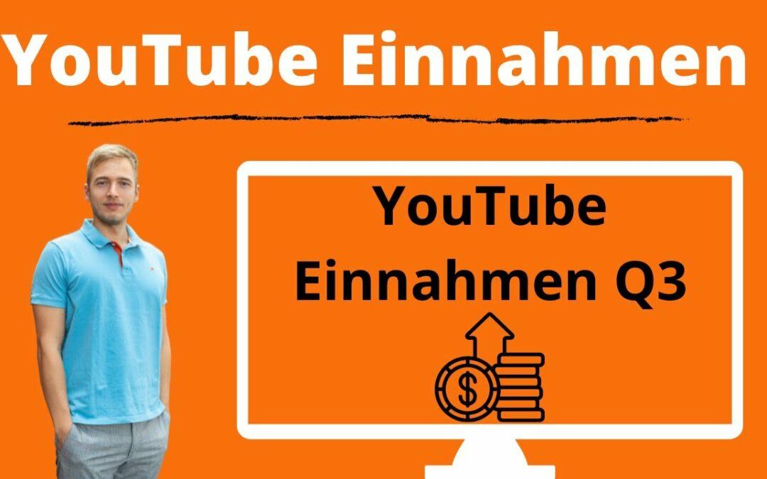 YouTube Einnahmen kleiner YouTuber: YouTube Quartalseinnahmen Q3 2021 – Mit YouTube Geld verdienen?